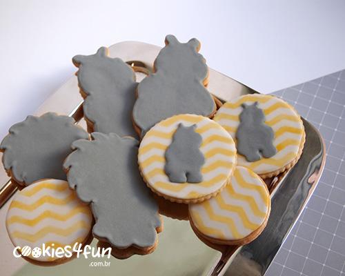 Biscoitos no tema do quarto do bebê