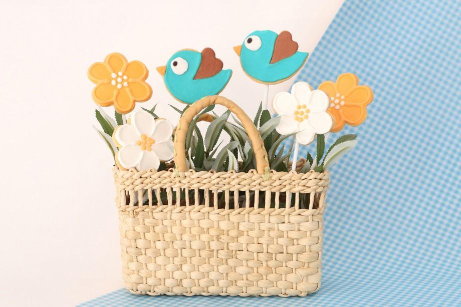 Biscoitos Decorados Passaros e Flores 01-min