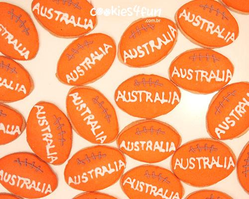 Biscoitos com tema da Australia