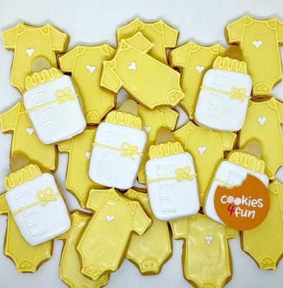 Biscoitos para lembrancinha maternidade