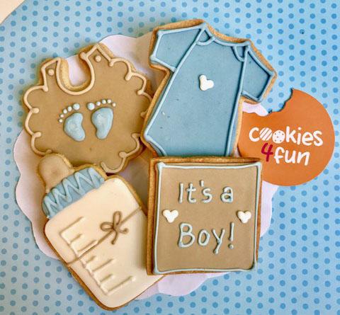 Biscoitos maternidade menino