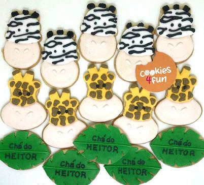 Biscoitos decorados Safari