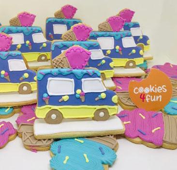 Biscoitos decorados festa sorvete