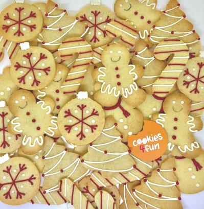 Biscoitos decorados Natal