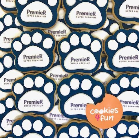 Biscoitos decorados brinde empresa Premier Pet