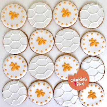Biscoitos decorados abelhas
