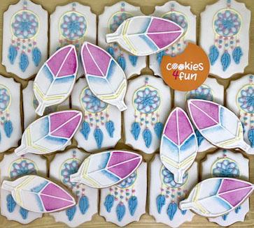 Biscoitos decorados festa Boho Chic