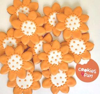 Biscoitos decorados girassol