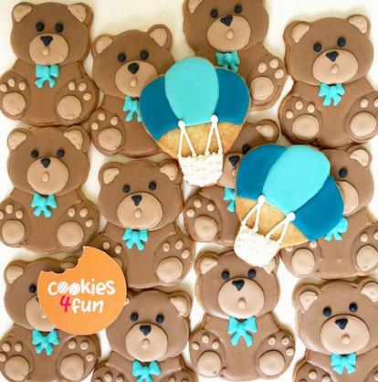 Biscoitos decorados ursinho + balão