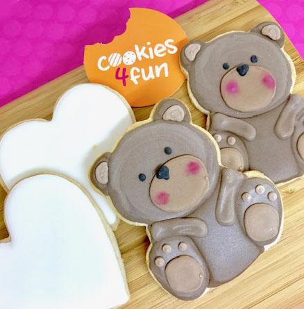 Biscoitos decorados ursinho