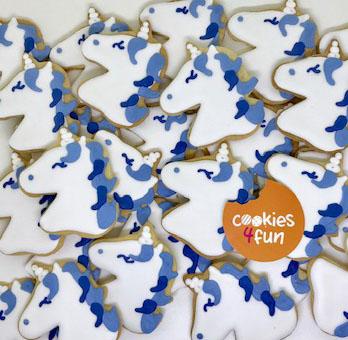Biscoitos decorados unicórnio