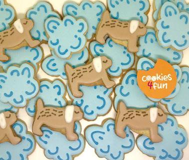 Biscoitos decorados maternidade