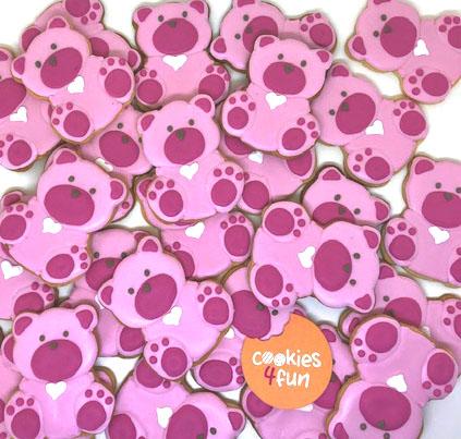 Biscoitos decorados maternidade ursinho